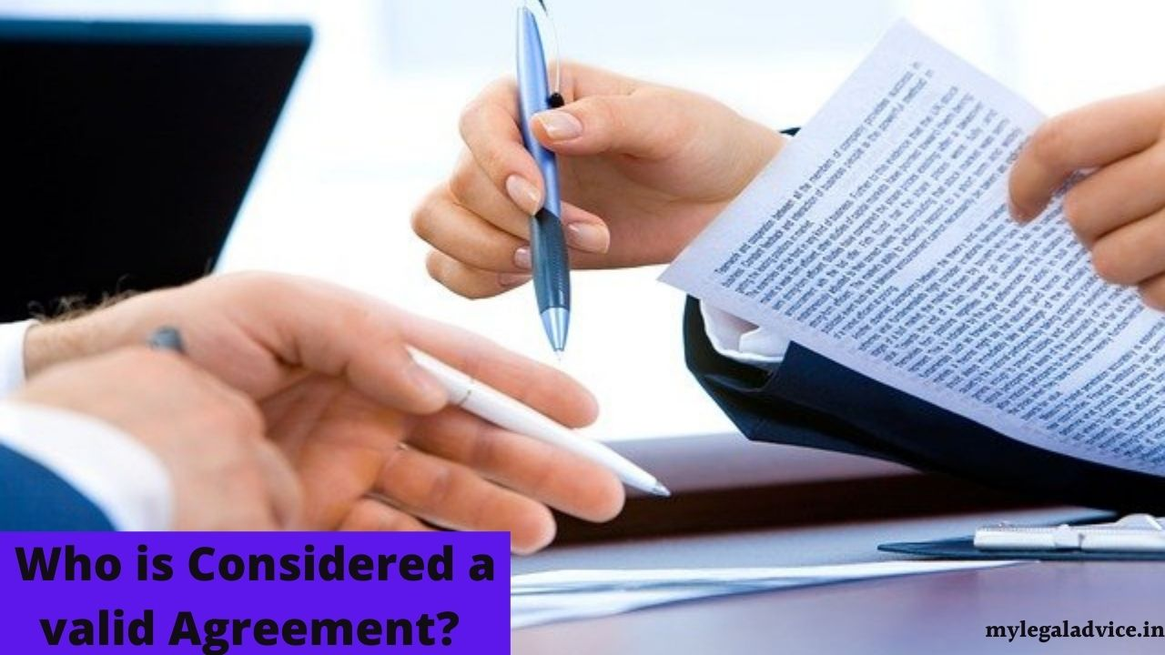 agreement kya hai vadh agreement kise mana jata hai who is considered a valid agreement